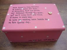 Shabby Personalised Chic Jewellery Box.. Gift for the Bride From the Groom..